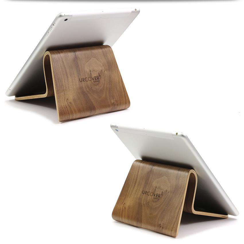 samdi ipad st nder dunkelbraun tablet halterung f r air 1 2 galaxy tab 1 2 3 ebay. Black Bedroom Furniture Sets. Home Design Ideas