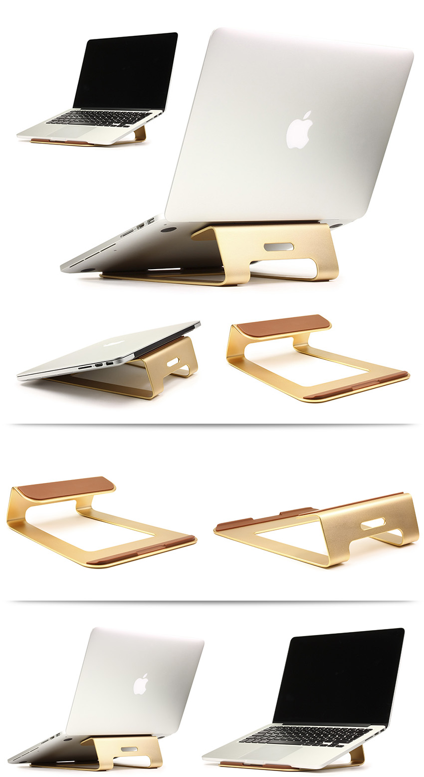 urcover aluminium notebookst nder st nder halter macbook laptop halterung gold ebay. Black Bedroom Furniture Sets. Home Design Ideas