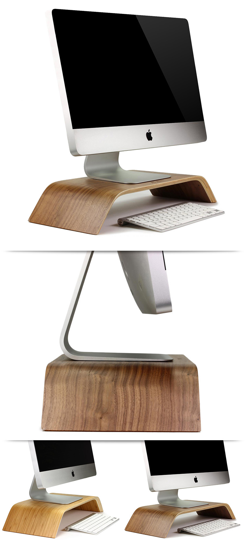 original urcover samdi edit universal bildschirmst nder echt holz dunkelbraun ebay. Black Bedroom Furniture Sets. Home Design Ideas
