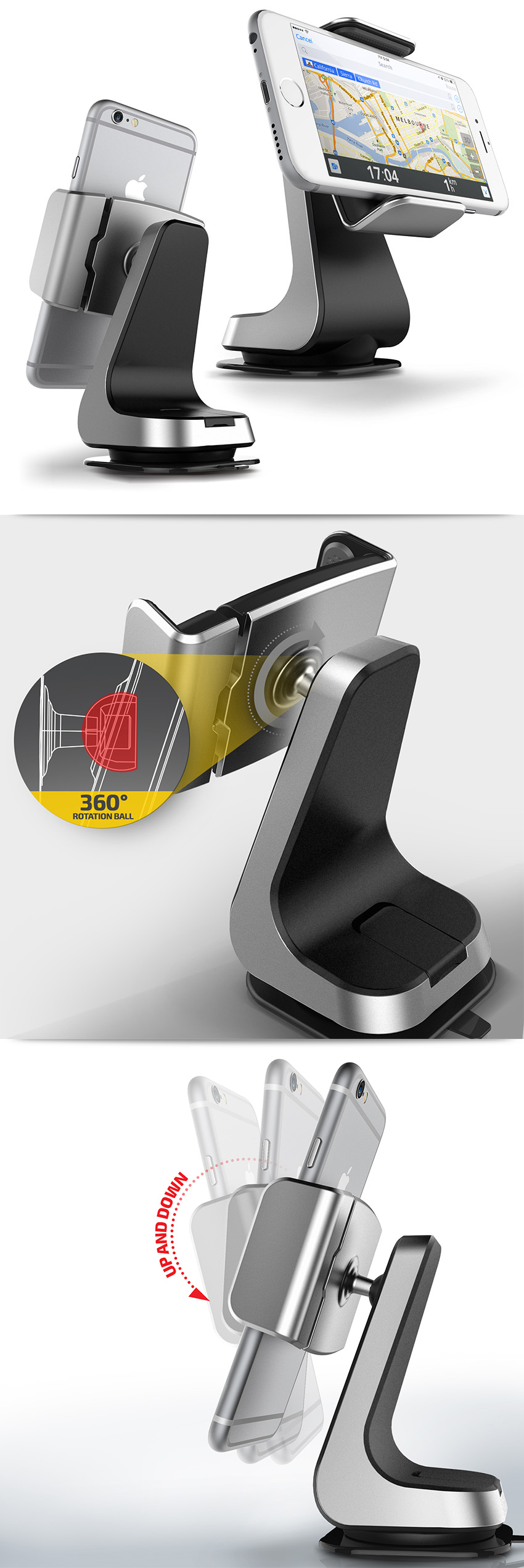 urcover universal kfz handy halterung smartphone auto. Black Bedroom Furniture Sets. Home Design Ideas